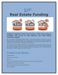 Real Estate Funding.docx