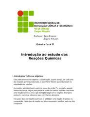 Introd. Reações Quimicas.doc