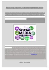 Understand Why Social Media is Important for your Business.docx