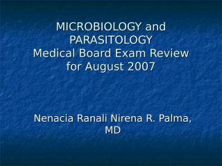 MICROBIOLOGY and PARASITOLOGY.ppt