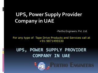 UPS, Power Supply Provider Company in UAE.pdf