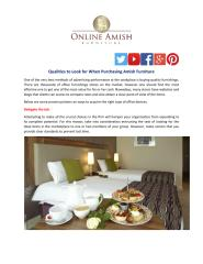 Qualities to Look for When Purchasing Amish Furniture.pdf