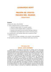 Boff Leonardo - Pasion De Cristo Pasion Del Mundo.RTF