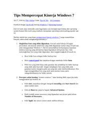 tips mempercepat kinerja windows 7.docx