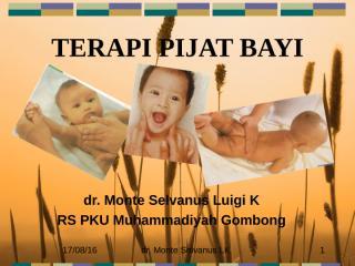 terapi pijat bayi -dr.monte.ppt