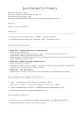 Modelo de Curriculum Vitae (Preenchido).doc