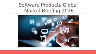 Software Products Global Market Briefing 2016 - Segmentation.pptx