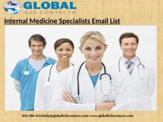 Internal Medicine Specialists Email List.pptx